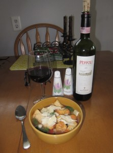 supper day 3 - Tuscan Soup with Chianti