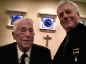 Dad and me at Masonic Lodge with my new Lewis Jewel