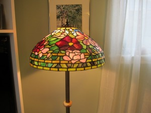 Stained Glass Peony Lamp - made by Nellyglass 2013