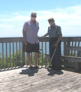 Dad and me at Fundy Trail