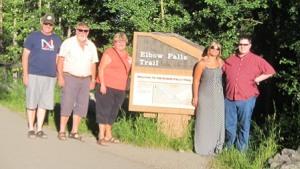 at Elbow Falls
