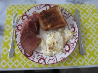 ham & eggs and well done toast