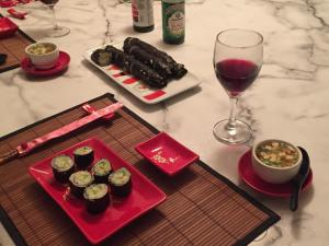 California Rolls and Meso Soup