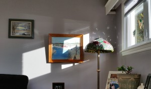 Morning light with art