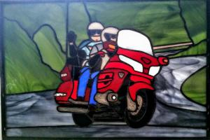 motorcycle panel finished