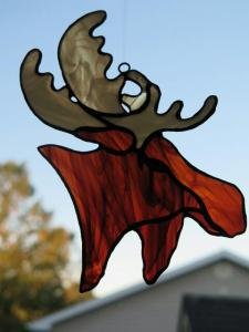 Moose suncatcher