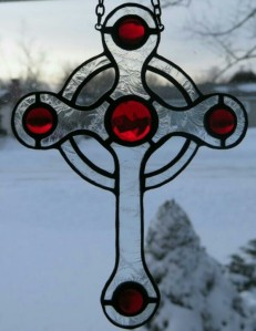 Celtic Cross in red